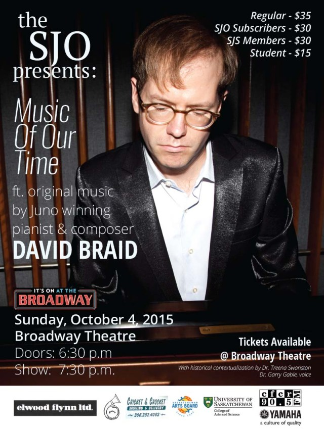 David Brain Concert Poster